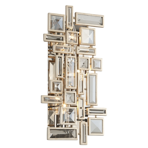 Corbett Lighting Corbett Lighting Method Tranquility Silver Leaf Sconce 178-13
