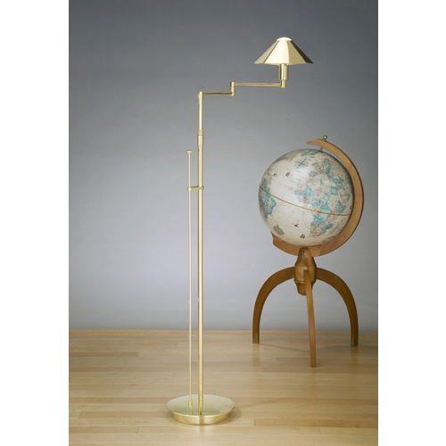 Holtkoetter Lighting Holtkoetter Modern Swing Arm Lamp in Polished Brass Finish 9424 PB