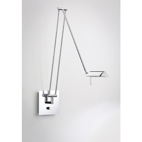 Holtkoetter Lighting Holtkoetter Modern Swing Arm Lamp in Chrome Finish 8192 CH
