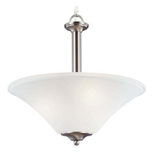Sea Gull Lighting Sea Gull Lighting Holman Brushed Nickel Pendant Light with Bowl / Dome Shade 69808BLE-962