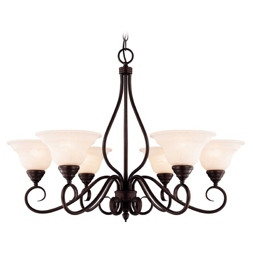 Savoy House Savoy House English Bronze Chandelier KP-104-6-13