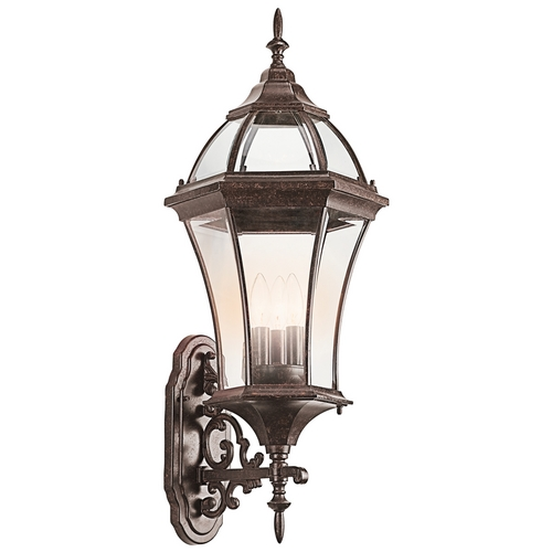 Kichler Lighting Kichler Outdoor Wall Light with Clear Glass in Tannery Bronze Finish 49185TZ