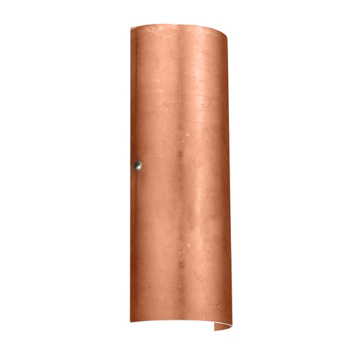 Besa Lighting Sconce Wall Light with Copper Glass in Satin Nickel Finish 8193CF-SN