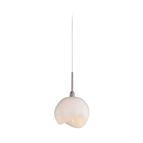 ET2 Lighting Modern Low Voltage Mini-Pendant Light with White Glass E94406-10SN