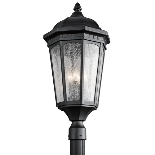 Kichler Lighting Kichler Post Light with Clear Glass in Textured Black Finish 9533BKT
