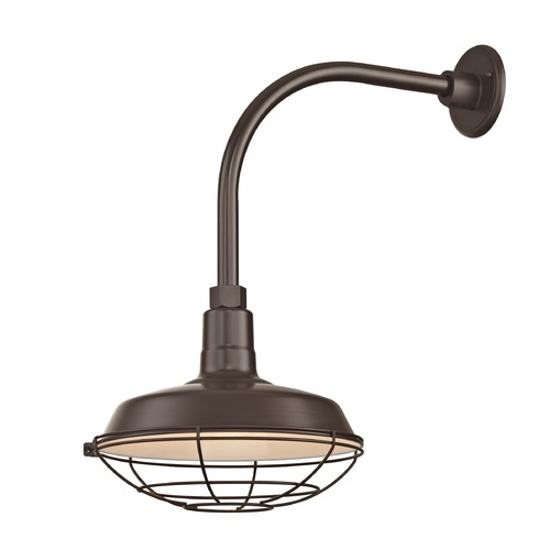 Recesso Lighting by Dolan Designs Bronze Gooseneck Barn Light with 12