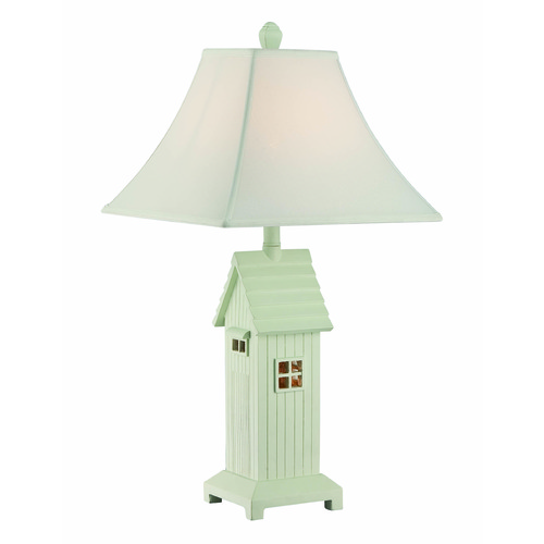 Lite Source Lighting Lite Source Lodge Brushed Antique White Table Lamp with Square Shade LS-22423