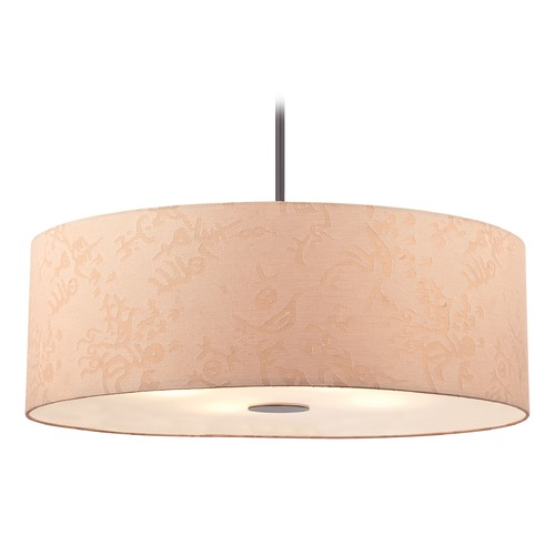 George Kovacs Lighting George Kovacs Kimono Antique Dorian Bronze Pendant Light with Cylindrical Shade P8087-615