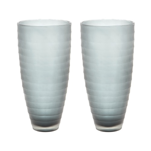Dimond Lighting Smoke Matte Cut Vases - Set Of 2 464083/S2