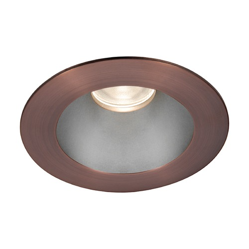 WAC Lighting WAC Lighting Round Haze Copper Bronze 3.5-Inch LED Recessed Trim 3000K 1174LM 55 Degree HR3LEDT118PF830HCB