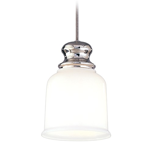 Hudson Valley Lighting Hudson Valley Lighting Riverton Polished Nickel Mini-Pendant Light with Bell Shade 2321-PN