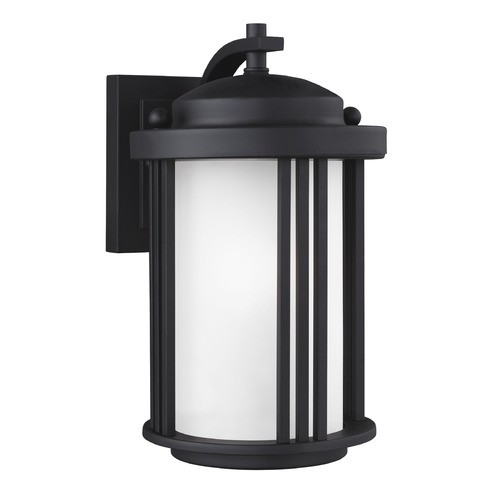 Sea Gull Lighting Sea Gull Crowell Black Outdoor Wall Light 8547901-12