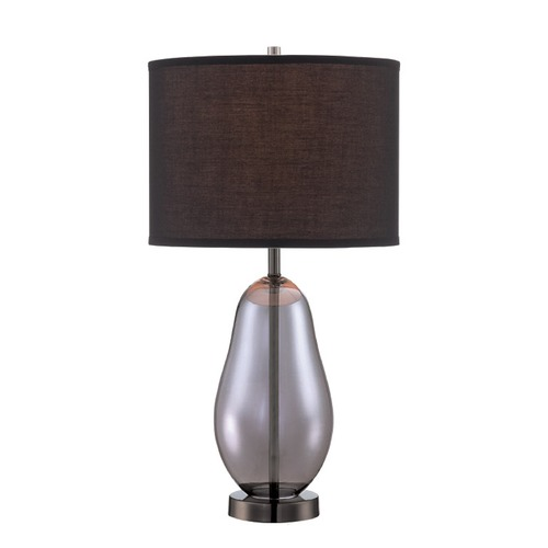 Lite Source Lighting Lite Source Ovadia Smoked Chrome Table Lamp with Drum Shade LS-22893