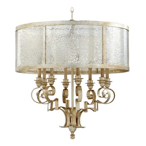 Quorum Lighting Quorum Lighting Champlain Aged Silver Leaf Chandelier 6081-8-60