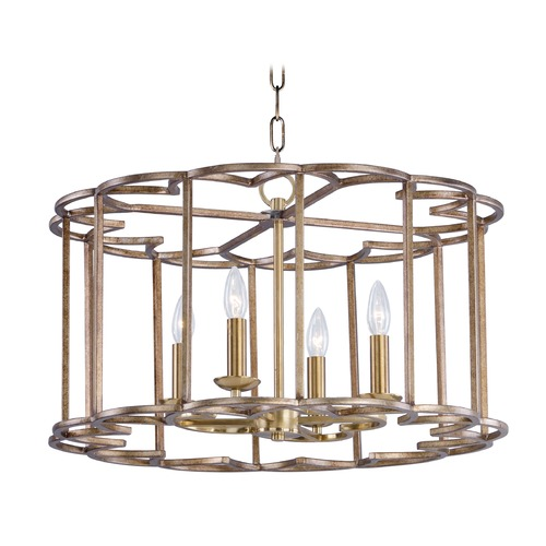 Maxim Lighting Maxim Lighting Helix Bronze Fusion Pendant Light with Drum Shade 24736BZF