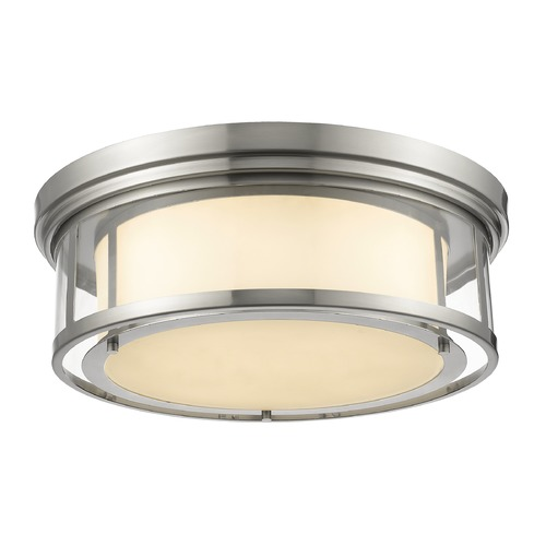 Z-Lite Z-Lite Luna Brushed Nickel Flushmount Light 2005F21-BN