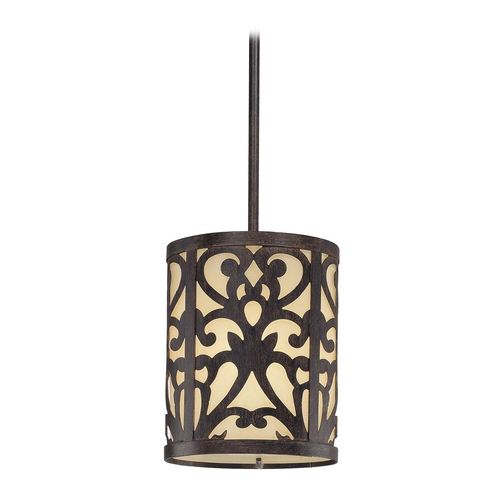 Minka Lavery Mini-Pendant Light with Beige / Cream Glass 1491-357