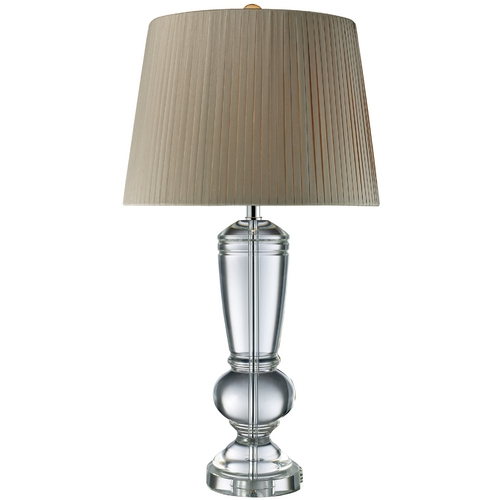 Elk Lighting Table Lamp with Grey Shade in Clear Crystal Finish D1811