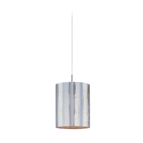 ET2 Lighting Modern Low Voltage Mini-Pendant Light with Grey Glass E94407-69SN