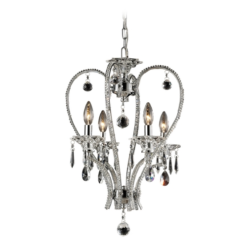Elk Lighting Crystal Chandelier in Chrome Finish 82001/4