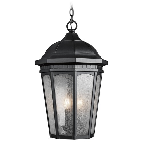 Kichler Lighting Kichler Black Outdoor Hanging Light with Clear Glass 9539BKT