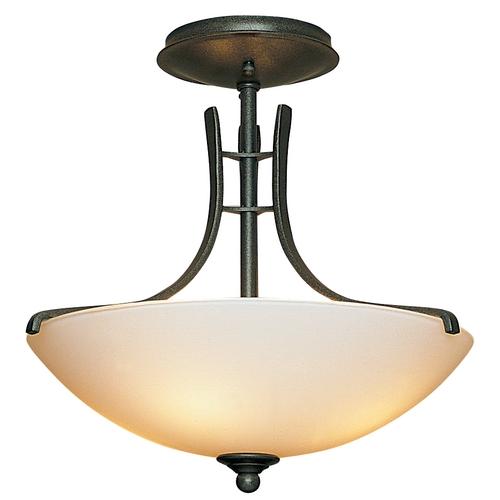 Natural Iron Twolight Semiflush Ceiling Light Fixture 12642220G48