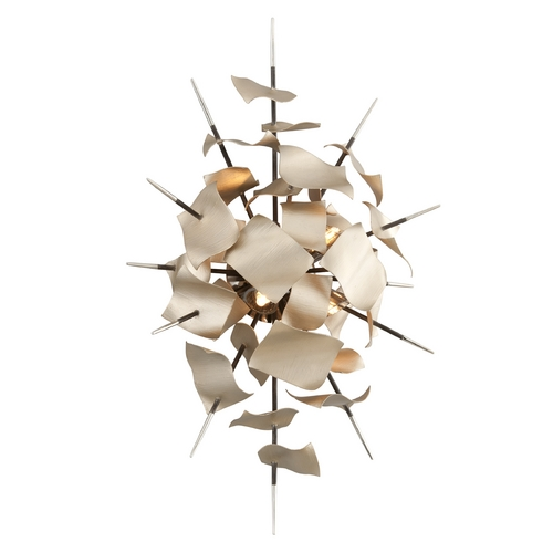 Corbett Lighting Corbett Lighting Poetry Tranquility Silver Leaf Sconce 175-14