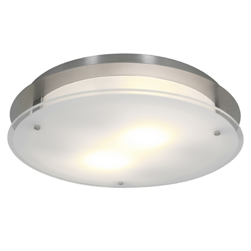 Access Lighting Access Lighting Visionround Brushed Steel LED Flushmount Light 50038LEDD-BS/FST