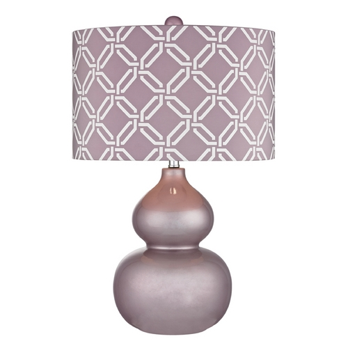 Dimond Lighting Table Lamp with Purple Shade in Lilac Luster Finish D2528