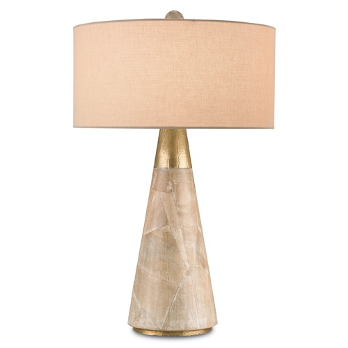 Currey and Company Lighting Currey and Company Lighting Babylon Aged Brass Table Lamp with Drum Shade 6771