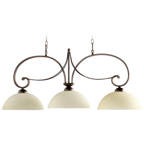 Quorum Lighting Quorum Lighting Lariat Oiled Bronze Island Light 6631-3-86