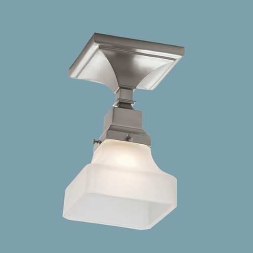 Norwell Lighting Norwell Lighting Birmingham Brush Nickel Semi-Flushmount Light 8121F-BN-PY