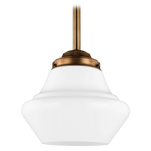 Feiss Lighting Feiss Lighting Alcott Aged Brass LED Pendant Light P1408AGB-LED