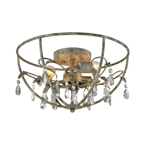 Elk Lighting Elk Lighting Bridget Marble Gray Semi-Flushmount Light 18211/3