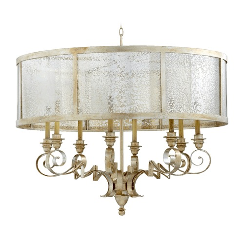 Quorum Lighting Quorum Lighting Champlain Aged Silver Leaf Chandelier 6082-8-60
