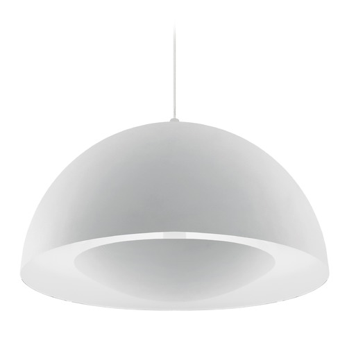 Kuzco Lighting Modern White LED Pendant 3000K 1500LM 401143WH-LED