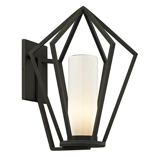 Troy Lighting Troy Lighting Whitley Heights Textured Black Outdoor Wall Light B6342