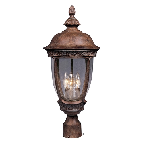 Maxim Lighting Post Light with Clear Glass in Sienna Finish 3460CDSE