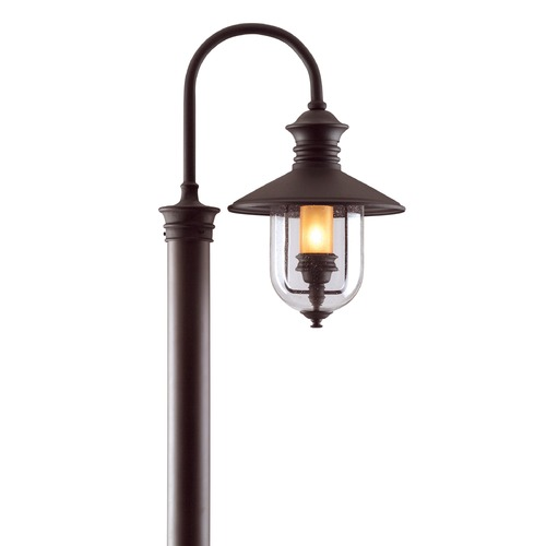 Troy Lighting Post Light with Clear Glass in Natural Bronze Finish P9364NB