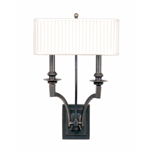 Hudson Valley Lighting Sconce Wall Light with White Shades in Aged Brass Finish 7902-AGB