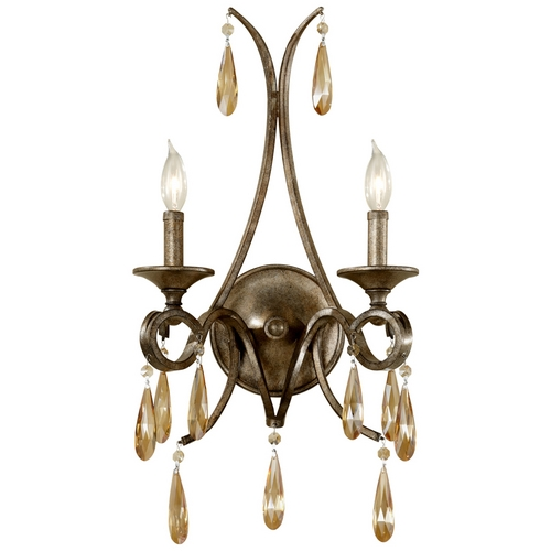 Feiss Lighting Sconce Wall Light in Gilded Imperial Silver Finish WB1563GIS