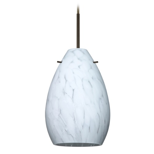 Besa Lighting Besa Lighting Pera Bronze Mini-Pendant Light with Oval Shade 1BT-171319-BR