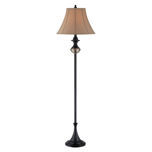 Lite Source Lighting Lite Source Lighting Bevis Bronze Floor Lamp with Bell Shade C61247