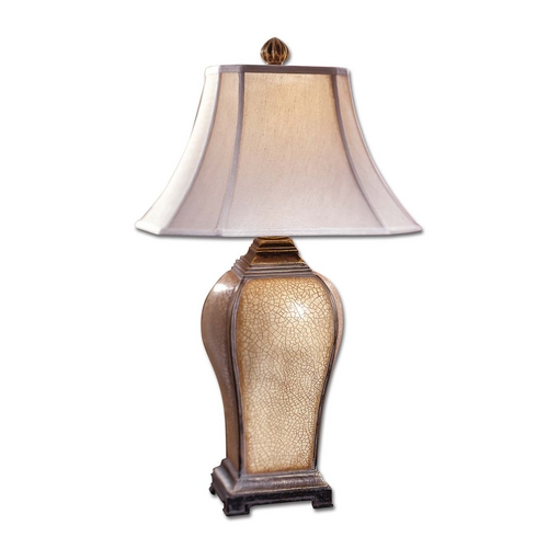 Uttermost Lighting Table Lamp with Beige / Cream Shade in Light Burnished Wash Finish 27093