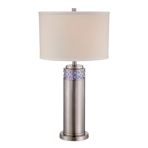 Lite Source Lighting Lite Source Lighting Cinzia Polished Steel Table Lamp with Drum Shade LS-22141