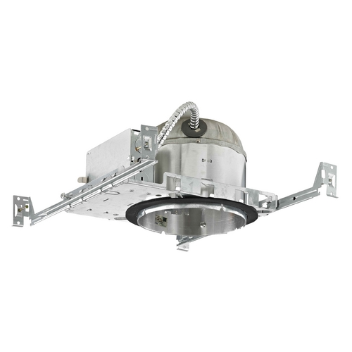 Recesso Lighting by Dolan Designs 6-Inch New Construction E26 Recessed Shallow Can Light IC & Airtight Flat Ceiling IC61