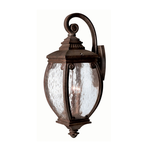Hinkley Lighting Outdoor Wall Light with Clear Glass in French Bronze Finish 1944FZ