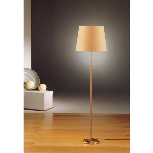 Holtkoetter Lighting Holtkoetter Modern Floor Lamp with Beige / Cream Shade in Antique Brass Finish 6354 AB KPRG