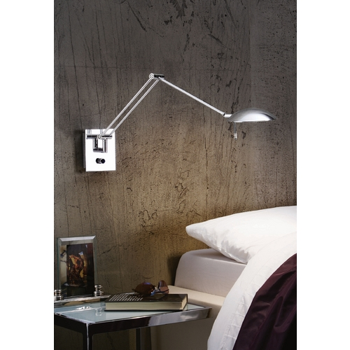 Holtkoetter Lighting Holtkoetter Modern Swing Arm Lamp in Chrome Finish 8193 CH