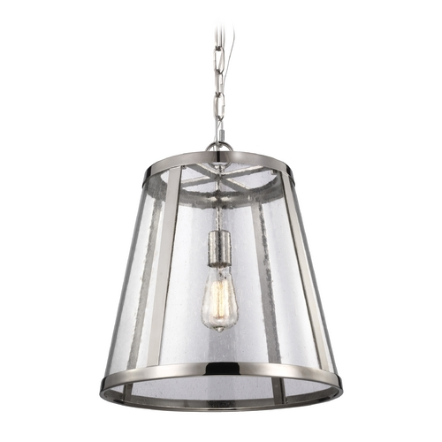 Feiss Lighting Feiss Lighting Harrow Polished Nickel Pendant Light with Empire Shade P1289PN